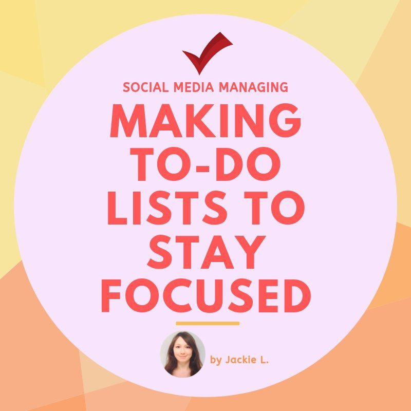 To-do lists for Social Media Managing